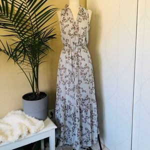 NWOT Mossimo floral sleeveless maxi dress